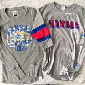 VS Pink Kansas Jayhawks KU T-shirt Bundle